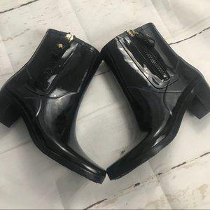 Kate Spade Peeny mid calf Black heeled rain boot